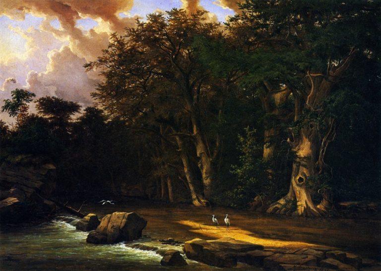 Herons on the Pedernales River | Herman Lungkwitz | oil painting