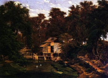 Paggi's Mill on Barton Creek | Herman Lungkwitz | oil painting