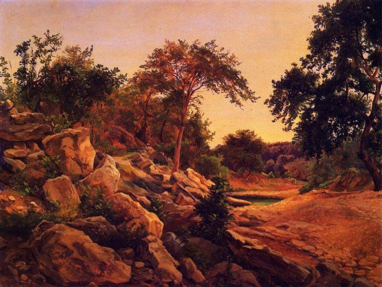 On Shoal Creek Austin   Herman Lungkwitz   oil painting