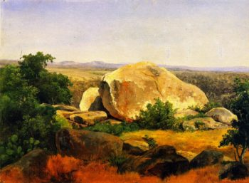Yellow Boulders on Bear Mountain | Herman Lungkwitz | oil painting