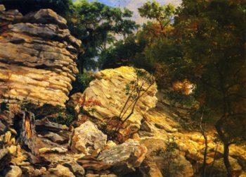Split Rok on Shoal Creek Austin | Herman Lungkwitz | oil painting