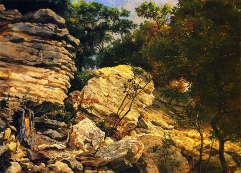 Split Rok on Shoal Creek Austin | Herman Lungkwitz | oil painting