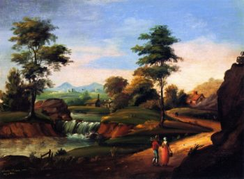 View of Twin Mountain   Charles Codman   oil painting