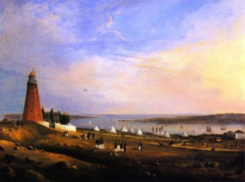 The Entertainment of the Boston Rifle Rangers by the Portland Rifle Club in Portland Harbor August 12 1829 | Charles Codman | oil painting