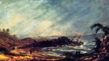 Shipwreck at Pond Cove Cape Elizabeth | Charles Codman | oil painting