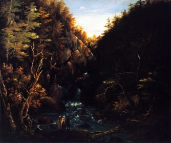 Tourists by a Waterfall | Charles Codman | oil painting
