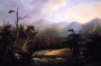Footbridge in the Wilderness | Charles Codman | oil painting