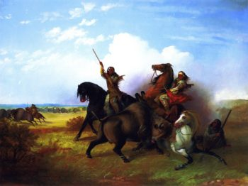 The Buffalo Hunt | John Mix Stanley | oil painting