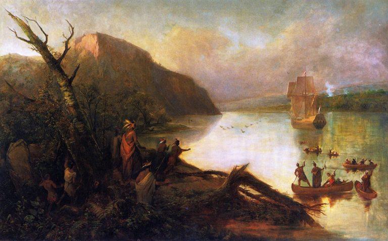 The Landing of Henry Hudson | Robert Walter Weir | oil painting