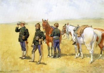 The Scouting Party | Frederic Remington | oil painting