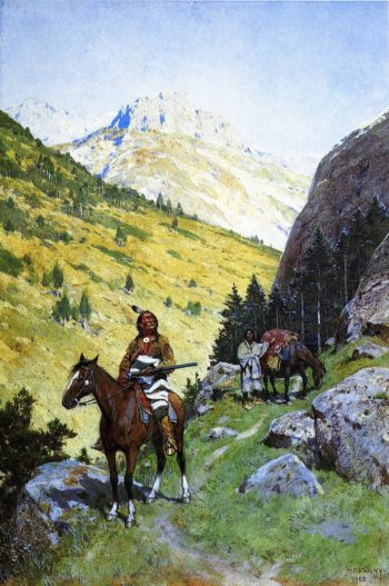 Through the Pass | Henry F Farney | oil painting