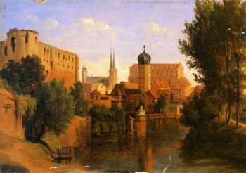 Halle an der Saale | Herman Lungkwitz | oil painting