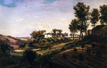 Hubbard Farm of Dana on Chapline Hill | Herman Lungkwitz | oil painting