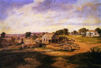 Guenther's Mill on LIfe Oak Creel | Herman Lungkwitz | oil painting
