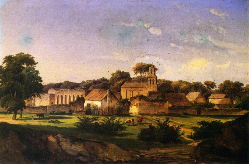 Mission San Juan de Capistrano   Herman Lungkwitz   oil painting