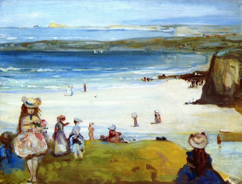 The Sands Newquay   Charles Conder   oil painting