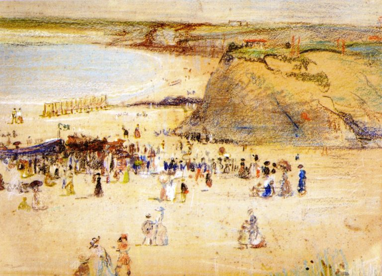 The Beach Newquay | Charles Conder | oil painting