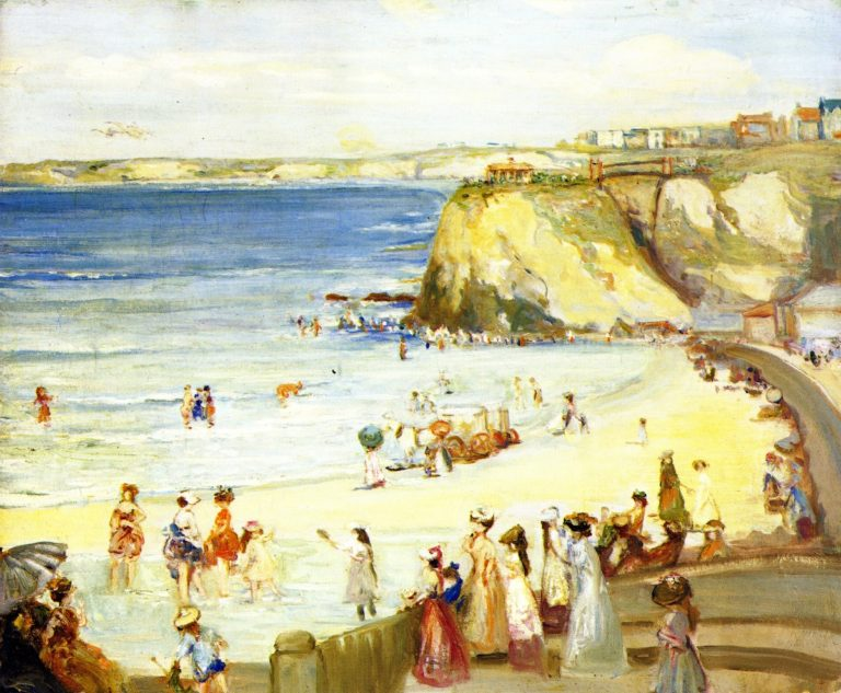 Newquay Town Beach | Charles Conder | oil painting