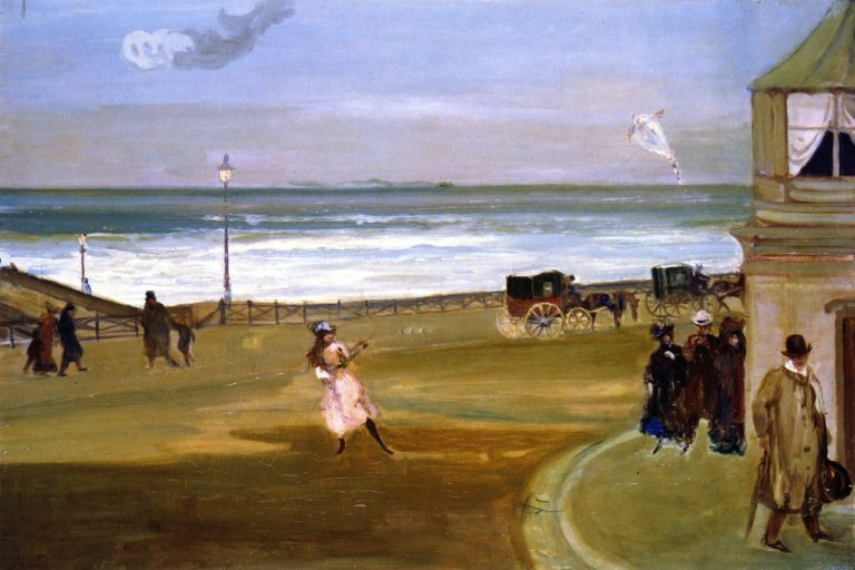 Windy Day at Brighton | Charles Conder | oil painting