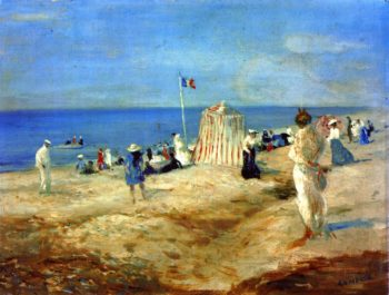 The Beach at Ambleteuse | Charles Conder | oil painting