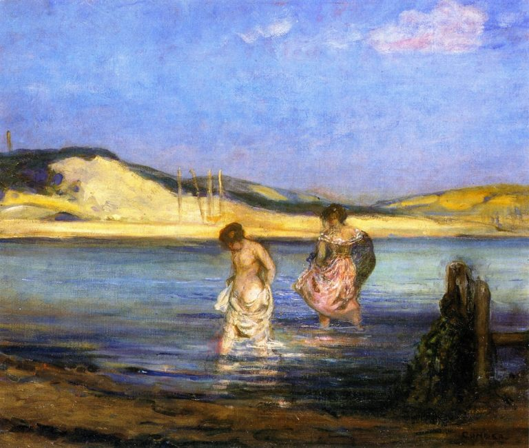 Women Bathing Swanage   Charles Conder   oil painting