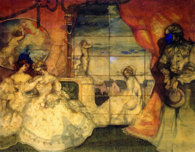 The Spector | Charles Conder | oil painting