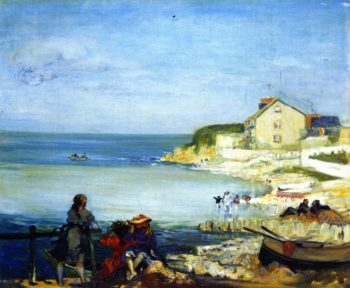 Beach at Swanage | Charles Conder | oil painting