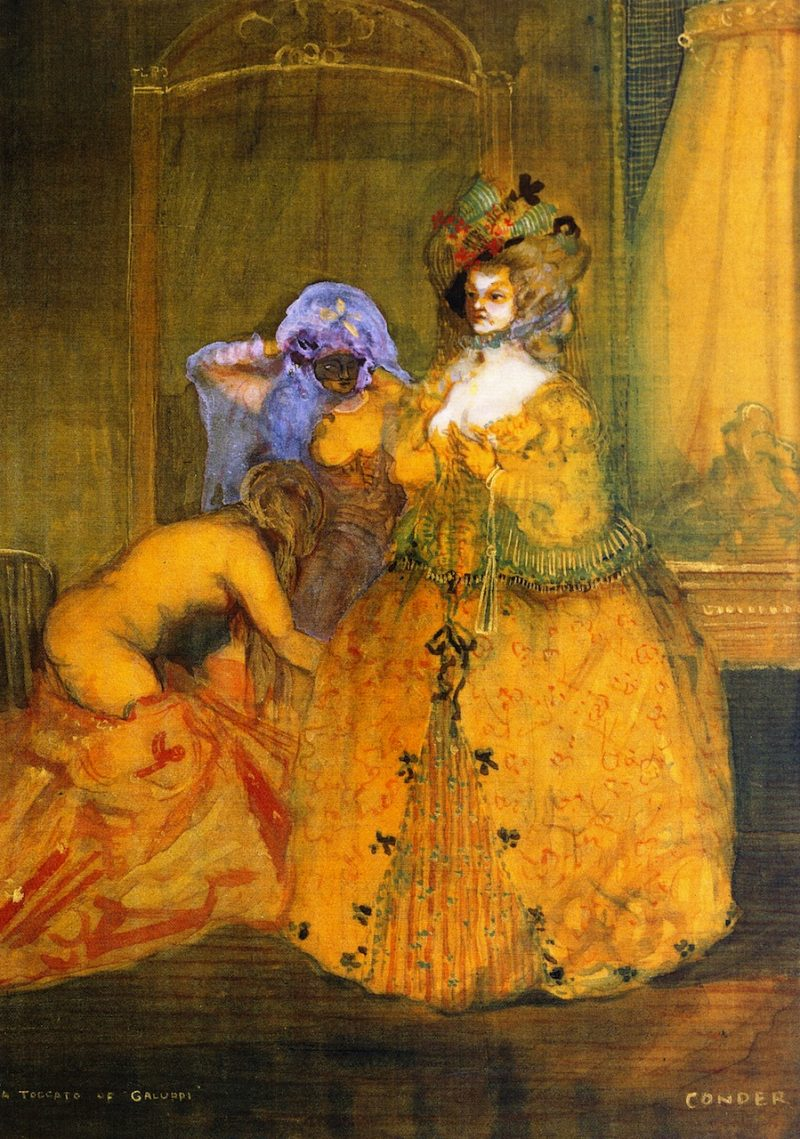 A Toccata of Galuppi   Charles Conder   oil painting