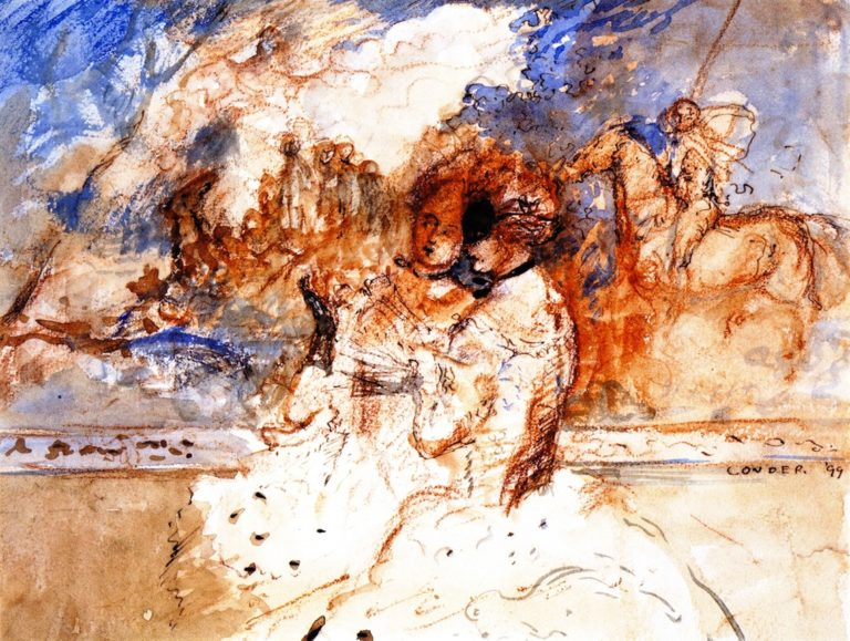 Sketch for a Silk Design | Charles Conder | oil painting