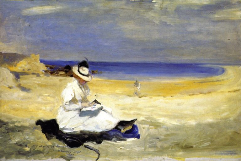 The Shore at Dornoch | Charles Conder | oil painting