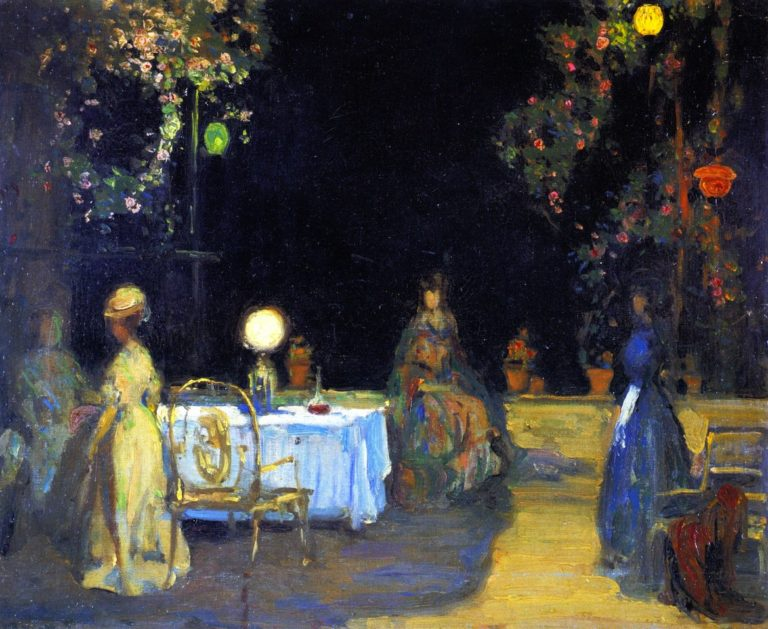 Night in the Garden in Spain | Charles Conder | oil painting