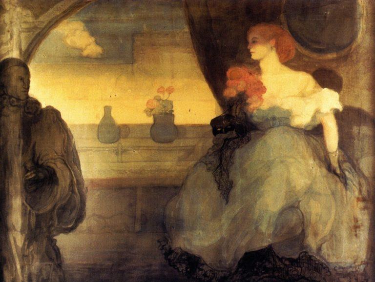 Le premier bal   Charles Conder   oil painting