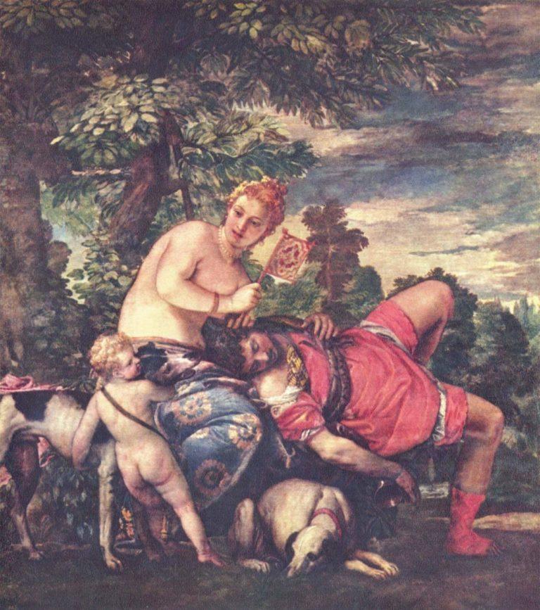 Venus und Adonis | Paolo Veronese | oil painting