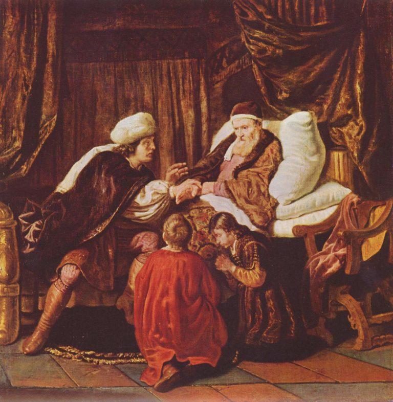 Jakob segnet die S?hne Joseph | Jan Victors | oil painting