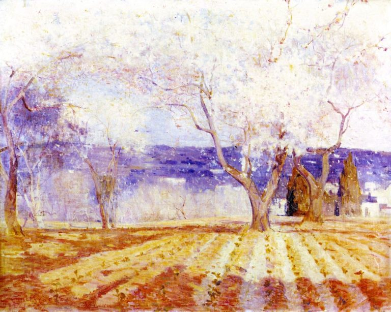 Fruit Trees in Blossom Algiers | Charles Conder | oil painting