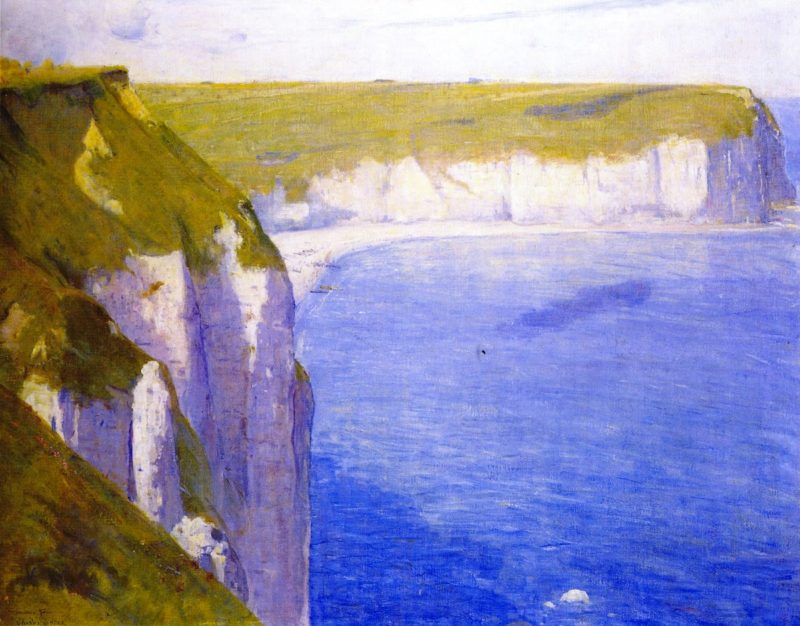 Cliffs at Yport | Charles Conder | oil painting