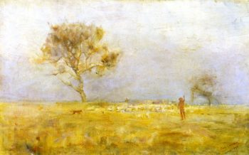 While Daylight Lingers | Charles Conder | oil painting