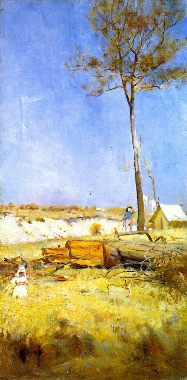 Under a Southern Sun   Charles Conder   oil painting