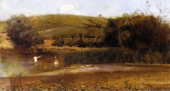 The Yarra Heidelberg | Charles Conder | oil painting