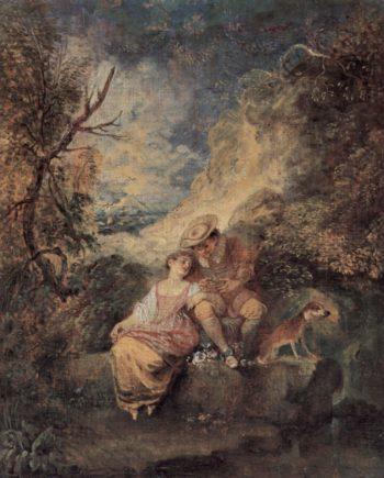 Der J?ger des Nestes | Antoine Watteau | oil painting