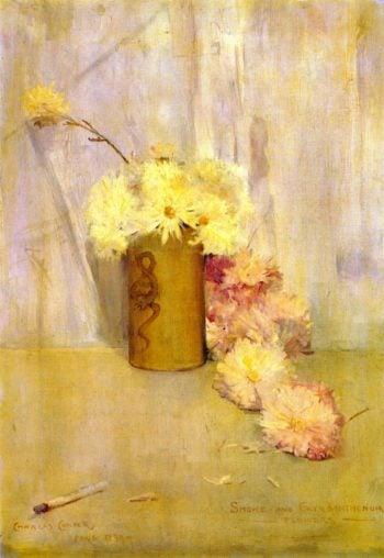 Smoke and Chrysanthemum Flowers | Charles Conder | oil painting