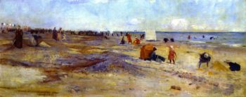 Sketch of Littlehapton Beach | Charles Conder | oil painting