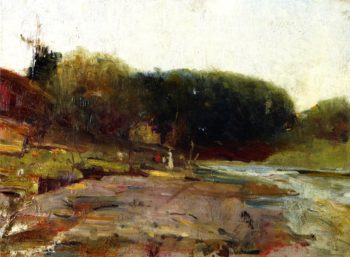 On the River Yarra near Heidelberg Victoria | Charles Conder | oil painting