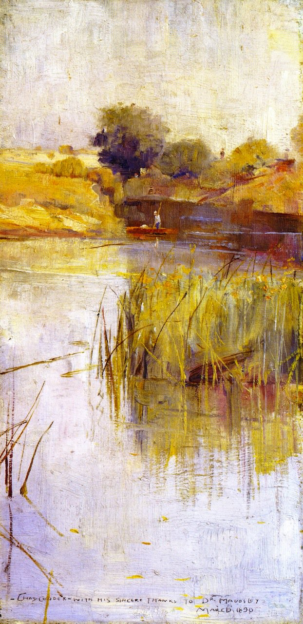 Landscape with River and Boat | Charles Conder | oil painting