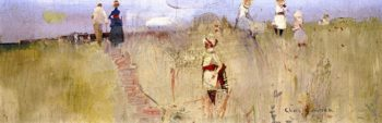 Golden Grass Scene | Charles Conder | oil painting