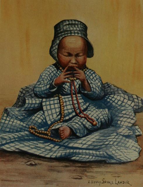 Tibetan Baby | Arnold Henry Savage Landor | oil painting