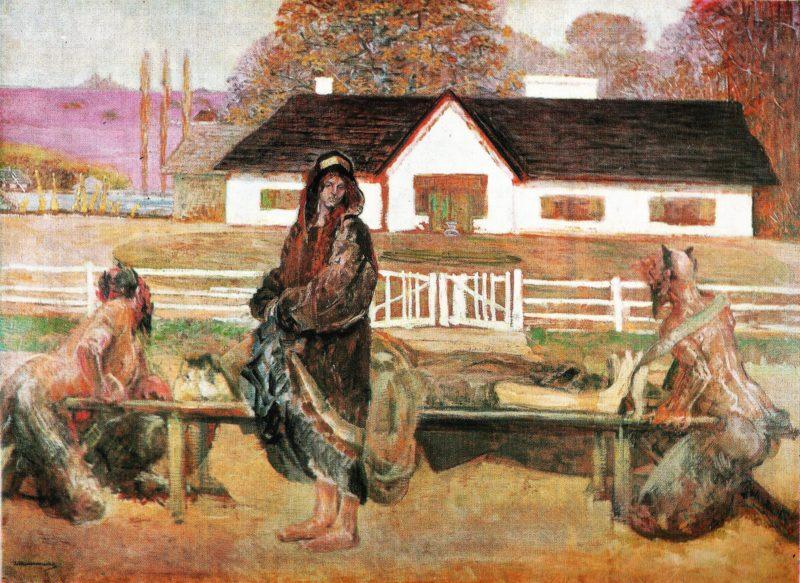 Powrot w rodzinne strony   Jacek Malczewski   oil painting