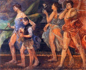 Anioly z Tobiaszem | Jacek Malczewski | oil painting