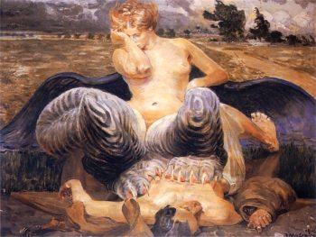 Artysta i chimera | Jacek Malczewski | oil painting