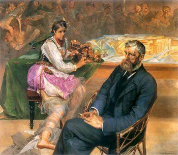 Asnyk z muza | Jacek Malczewski | oil painting